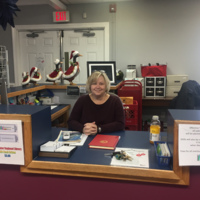 Librarian Laurie Latham, Agnes Taylor Gray Library, Waverly, Virginia, December 29, 2017